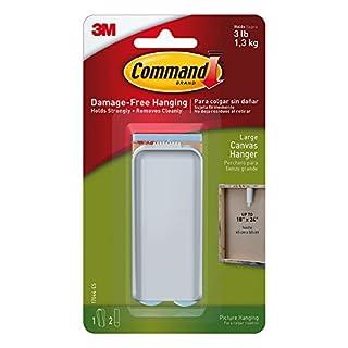 CMD Products Leinwand-Halterung, Aufhänger, groß, unsichtbar, ablösbar, keine Schäden, selbstklebend, leicht zu entfernen, keine Notwendigkeit für Schrauben, keine Nägel, trägt 1,3kg