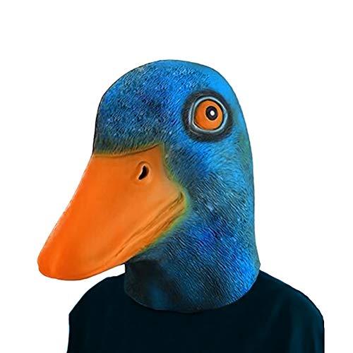 Halloween Maske Latex Gummi Lustig Ente Maske für Halloween Cosplay Kostüm Weihnachten (Blau) ()