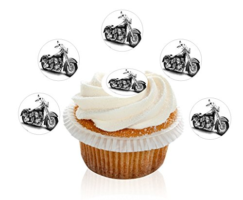 24-pre-cut-harley-davidson-edible-premium-disc-wafer-cupcake-decorations-toppers-by-kreative-cakes