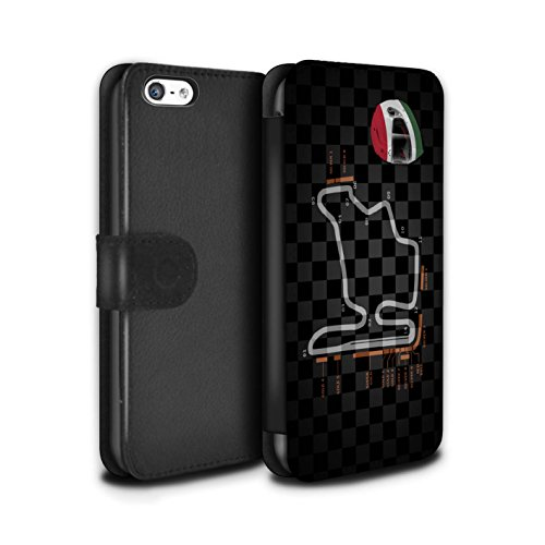 Stuff4 Coque/Etui/Housse Cuir PU Case/Cover pour Apple iPhone 5C / Multipack (19 Pack) Design / 2014 F1 Piste Collection Hongrie/Budapest