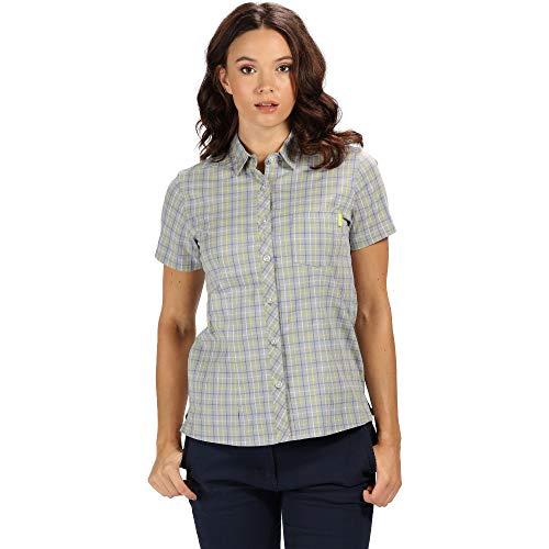 Cotton Blend Short Sleeve Shirt (Regatta Womens Honshu III Cotton Blend Short Sleeve Shirt)