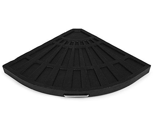 Ondis24 Platten zum Beschweren für Kreuzständer Sonnenschirme je 12 kg schwarz