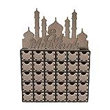 Moonbird Hölzerner MDF Eid Mubarak Adventskalender moslemische islamische Dekorationen Ornament Geschenk DIY