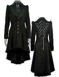 suchergebnis auf f r gothic mantel damen bekleidung. Black Bedroom Furniture Sets. Home Design Ideas