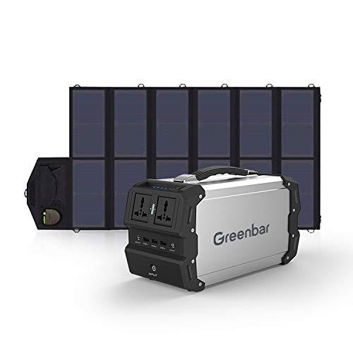 Tragbares Kraftwerk, 220 V / 400 W tragbarer Generator für den Außenbereich, Solargenerator (optional mit Sonnenkollektor) Mobile Stromversorgung für Campingreisen im Freien,120000mAhB