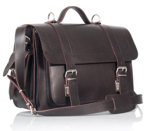 UBERBAG Pimlico Borsa/Zaino/cartella/borsa in pelle conciata al vegetale marrone Tan satchel Brown