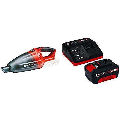 Einhell Akku Handstaubsauger TE-VC 18 Li Solo Power X-Change (Lithium Ionen, 18 V, Staubfangbehälter 540 ml) + Starter Kit Akku und Ladegerät Power X-Change (Lithium Ionen, 18 V) (Auto-batterie Zweite Kit)