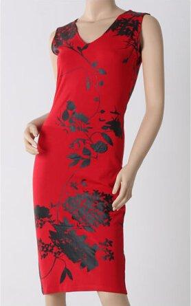 KingField - Robe - Crayon - Sans Manche - Femme Rouge - Rouge