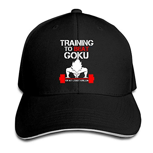 fjfjfdjk AegeanSea Training TO Beat Goku OR AT Least Krillin Gym Adjustable Sun Hat Black