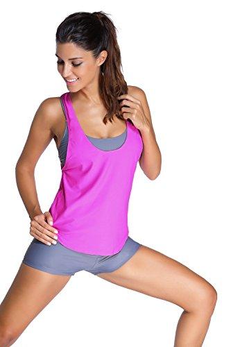 meinice-grey-sports-bra-tankini-swimsuit-with-rosy-vest-l