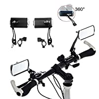 1 Pair Aluminium Mountain Bicycle Motor Scooter Rear View Back Mirror Wing Mirror (Black)