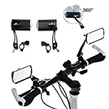 Best Bicycle Mirrors - 1 Pair Aluminium Mountain Bicycle Motor Scooter Rear Review