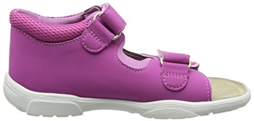 Ricosta Kittie, Sandales  Bout ouvert fille Pink (Candy 338)