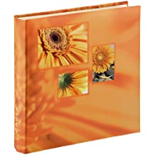 Hama Jumbo Singo106252 - Álbum de fotos (30 x 30 cm, para 400 fotos de 10 x 15 cm), color naranja