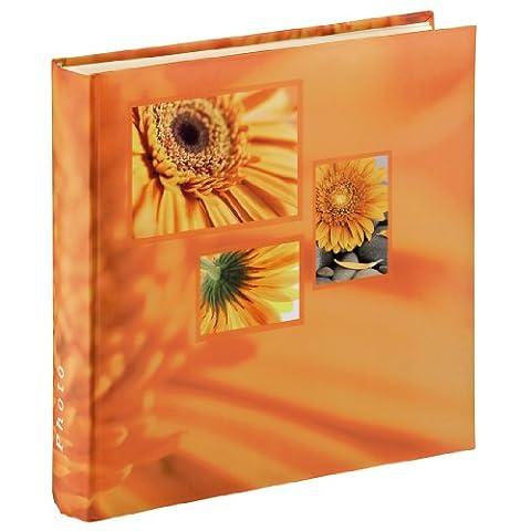 Hama Jumbo Fotoalbum Singo (30 x 30cm, 100 Seiten, 50 Blatt, 400 Fotos) orange