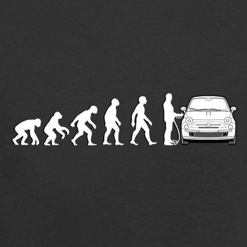 Evolution of Man - Fiat 500 Fahrer - Herren T-Shirt - 13 Farben Schwarz