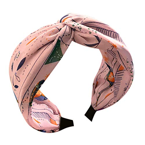 kolila Clearance Damen Billig Stirnband Haarspange Mode Bedruckte Accessoires Twisted Knot Breitseite Haarband Damen Mädchen(Lila)