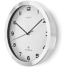 TronicXL Reloj Reloj de Pared Reloj de Pared controlado por Radio 30 cm Plata