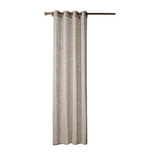Vorhänge Solid Color Grau Vorhang für Wohnzimmer Fenster Screening Ösen Sheer Voile Vorhang (52X63inch) -1 Stück , 3 , 1*(56X88inch) (Solid Color Sheer)