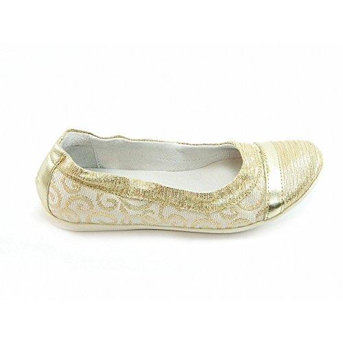 Gattinoni - Gattinoni ballerine oro bambina A0008 - Oro, 32