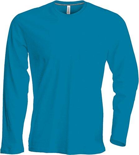 Herren T-Shirt langarm von notrash2003 (4XL, Türkis)