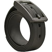PlugBelt Negro - Cinturón de golf para hombre, silicona, unitalla, biodegradable, resistente y libre de metales.