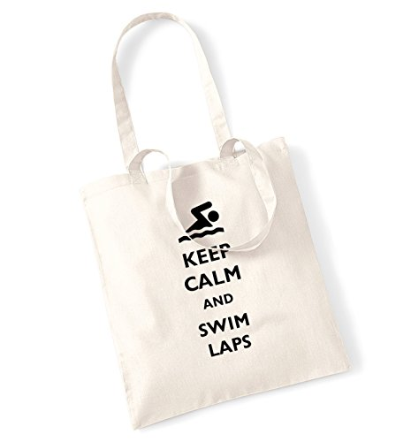 Wave Pool Float (Keep calm and swim laps tote bag)