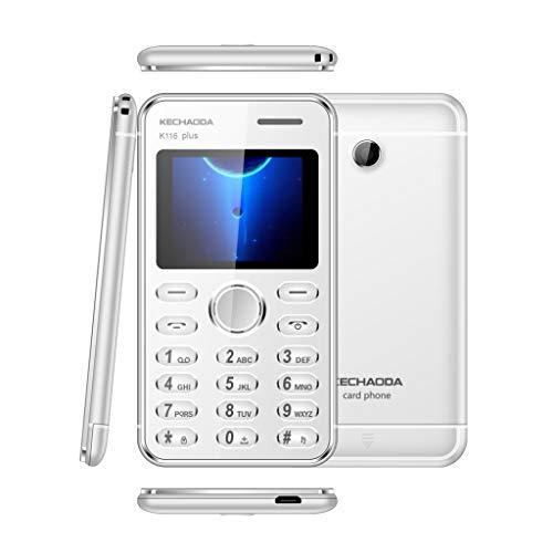 Bescita6 KECHAODA K116 Plus GSM-Handy Dual-SIM-2G entsperrt Telefon für alte ältere Menschen Smartphone Bluetooth-Mobiltelefon Kartentelefon Handy (Handy Sd Micro Entsperrt)