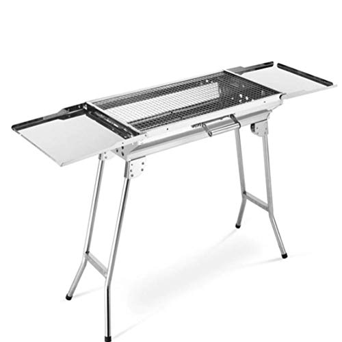 Fang F Tragbare Verdickung BBQ Grill Outdoor Raucher Holzkohle BBQ Klapp Klapp Grill Holzkohle Grill Garten Wandern Camping Picknicks Barbecue Party für 5-15 Personen - Premium-holzkohle-grill-abdeckung