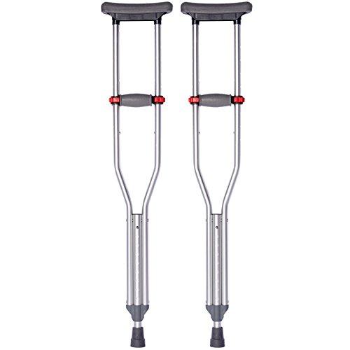 In alluminio leggero regolabile stampelle tre - in - uno spessore alluminio lega anziani con disabilità a piedi walker walker ascella , 1