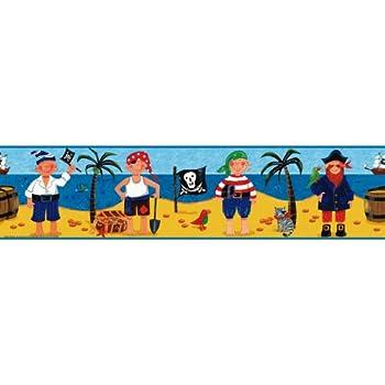 Room Mates Frise murale adhésive pour enfant Repositionnable Chasse au trésor