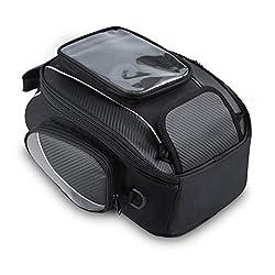 Motorrad Tasche Wasserdicht Tank Beutel Umhängetasche Motorradtasche mit Starkem Magnetischem für Honda Yamaha Suzuki Kawasaki Harley (10L & Schwarz)