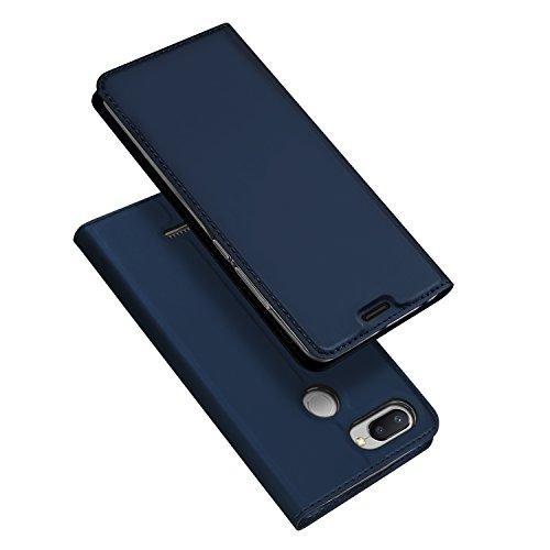 DUX DUCIS Xiaomi Redmi 6 Hülle,Flip Folio Handyhülle,Magnet,Standfunktion,1 Kartenfach,Ultra Dünn Schutzhülle für Xiaomi Redmi 6 (Blau)