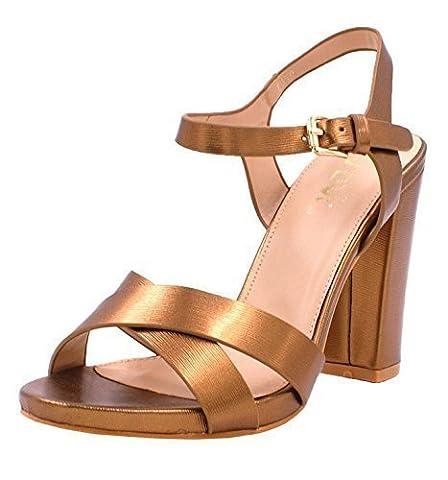 High Heel Sandal Shoes-Bronze-UK 7 / EU 40
