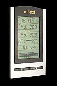 MISOL 1 UNIT of wireless Weather Station with Outdoor Temperature and humidity sensor LCD display, Barometer/Stazione meteo wireless con temperatura esterna e display LCD sensore di umidit¨¤, Barometro