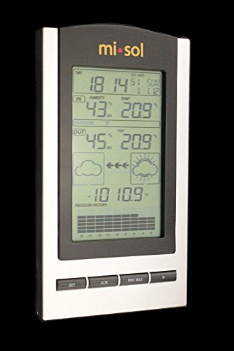 MISOL 1 UNIT of wireless Weather Station with Outdoor Temperature and humidity sensor LCD display, Barometer/Stazione meteo wireless con temperatura esterna e display LCD sensore di umiditš€, Barometro
