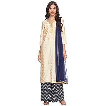 STOP Womens Notched Collar Printed Palazzo Suit