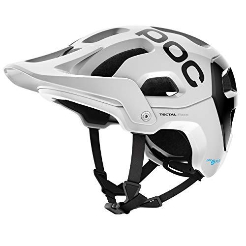 POC Tectal Race Spin Helm, Hydrogen White/Uranium Black, XL-XXL