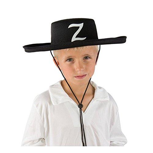 Chapeau-de-Bandit-Masqu-Enfant-feutre-noir