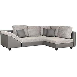 Canapé d'angle convertible gris Dream
