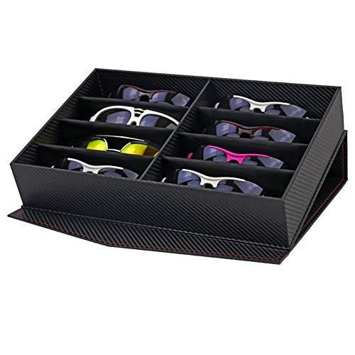 Sonnenbrillen Brille Uhren Veranstalter Multifunktionale Sonnenbrille Veranstalter Brillen Brillen Display Sammlung Aufbewahrungskoffer 12 Fächer Gläser Halter Box Eyewear Aufbewahrungs- und Präsenta