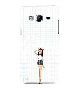 EPICCASE Freeky dress Girl Mobile Back Case Cover For Samsung Tizen Z3 (Designer Case)