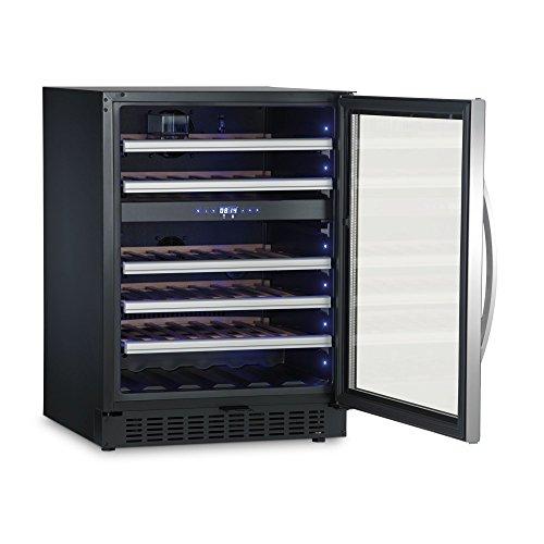 Dometic MaCave S46G, 2 Zonen Wein-Kühlschrank für 46 Flaschen, Weintemperierschrank klein +5 °C bis +22 °C, Wein-Klimaschrank mit Glastür (Weinkeller 12 Flasche)