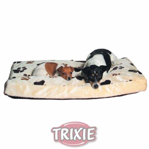 Trixie 37594 Kissen Gino, 90 x 65 cm, beige mit Pfoten