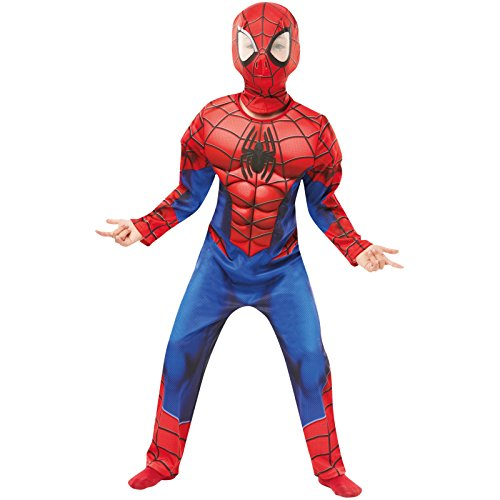 Rubie 's 640841s Spiderman Marvel Spider-Man Deluxe Kind Kostüm, Jungen, klein (Spider Man Kostüm Kind)