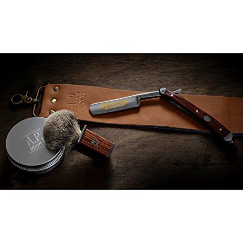 A.P. Donovan - Exzellentes 7/8 Zoll Rasiermesser Set - Mahagoni Holzgriff Abbildung 3