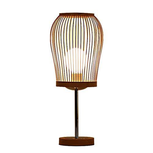 SGWH / Godess4 Moderno Simple Creativo IKEA Pastoral Protección de los ojos Decoración Bambú Luz Lámpara de madera maciza E27 Estudio Dormitorio Lámpara de cabecera Salón 19 * 45 cm