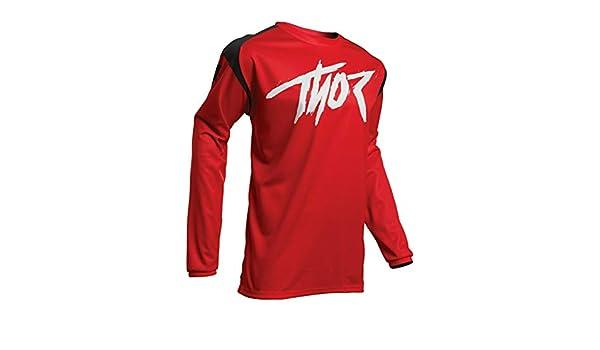 Rosso//Nero colore Thor MX Maglia da motocross per adulti