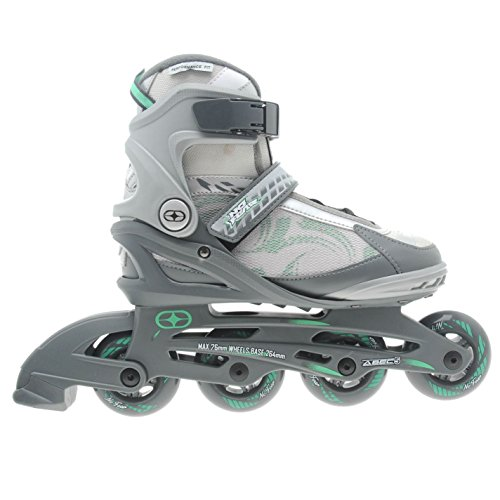 no-fear-womens-ladies-fitness-inline-skates-roller-blades-four-wheel-sports-grey-teal-uk-5