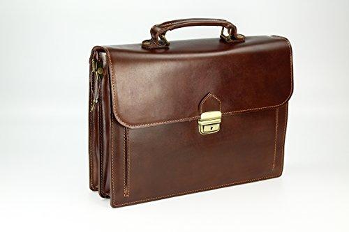 Belli, Borsa a mano uomo marrone cognac 37x27x12 cm (B x H x T) Maronenbraun